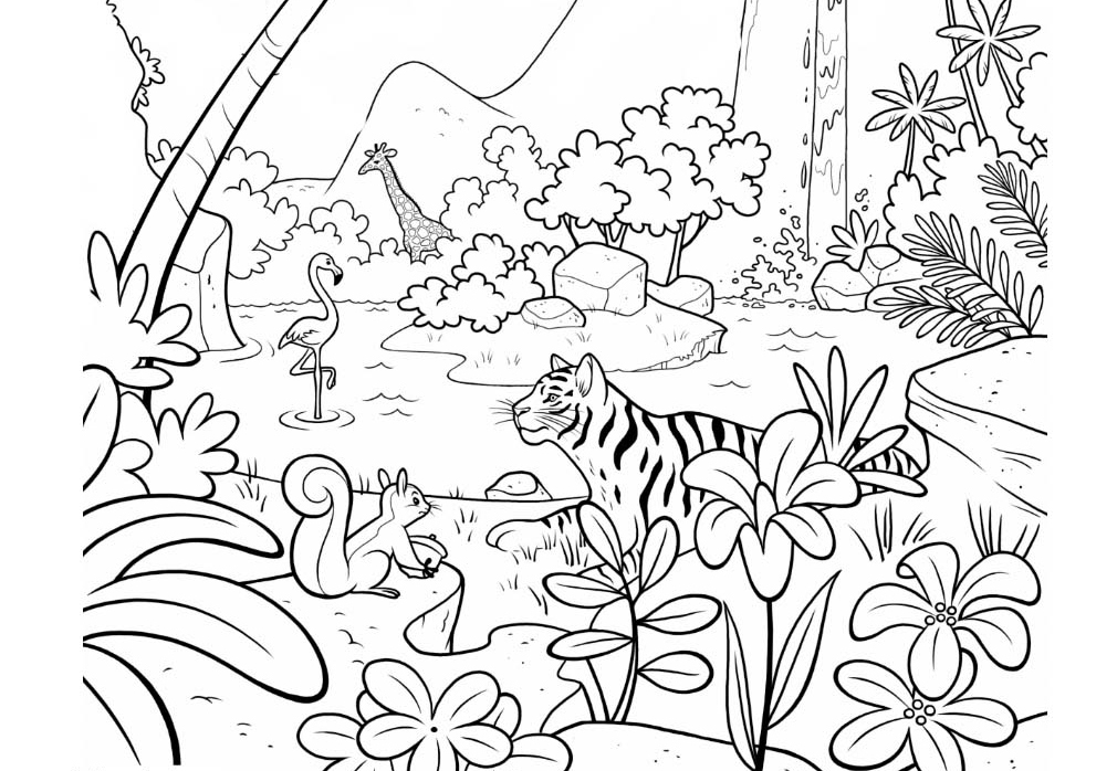 Free Printable Jungle Coloring Pages