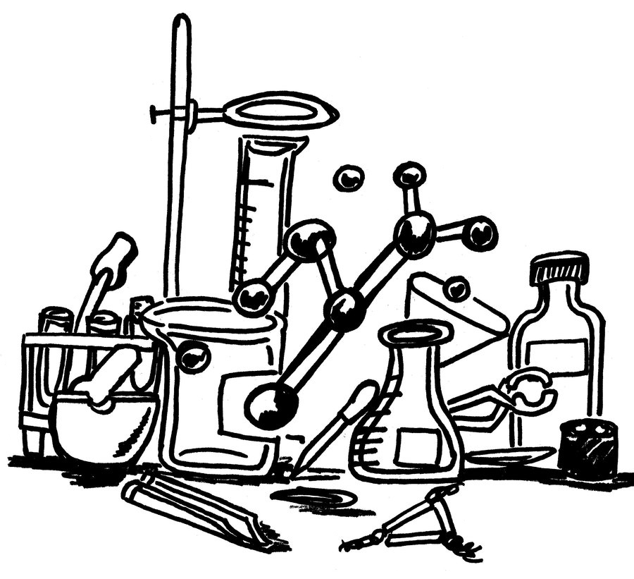 Free Science Lab Coloring Page