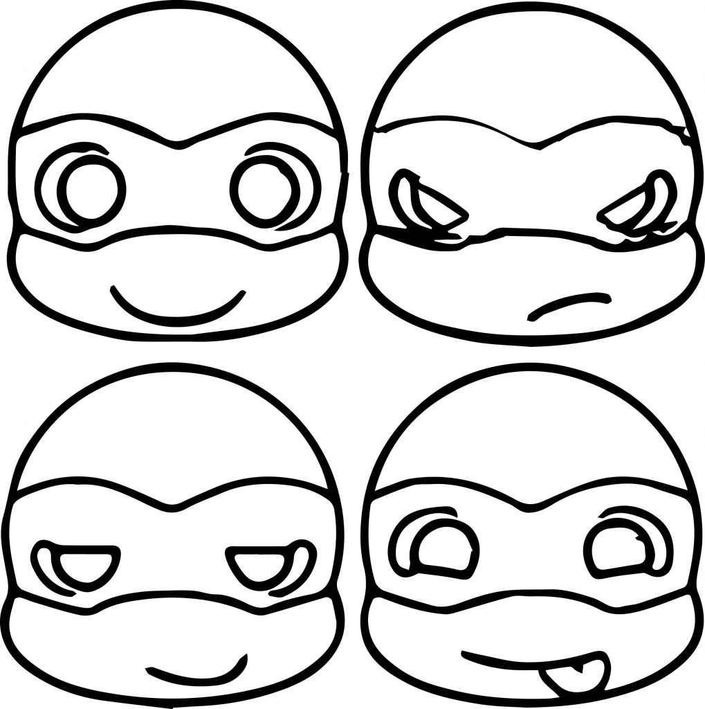 Free Teenage Mutant Ninja Turtle Masks Coloring Page