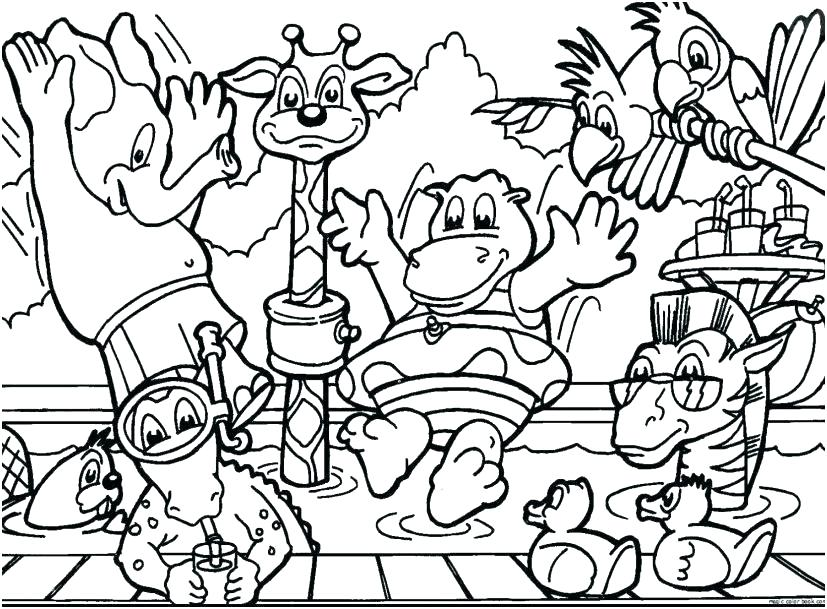 Fun Jungle Coloring Pages