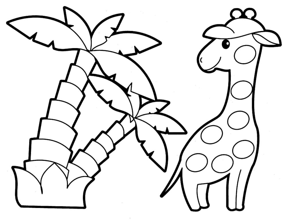Giraffe - Animal Coloring Pages