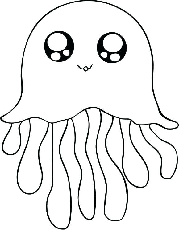 Jellyfish - Animal Coloring Pages