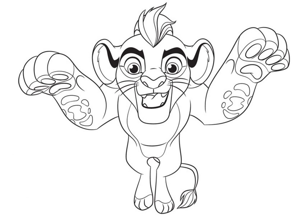Kion - Lion Guard Coloring Page