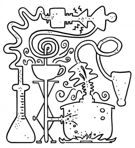 Lab - Science Coloring Page