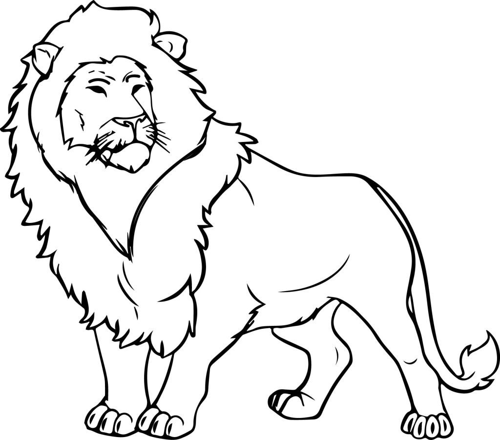 Lion Jungle Coloring Pages