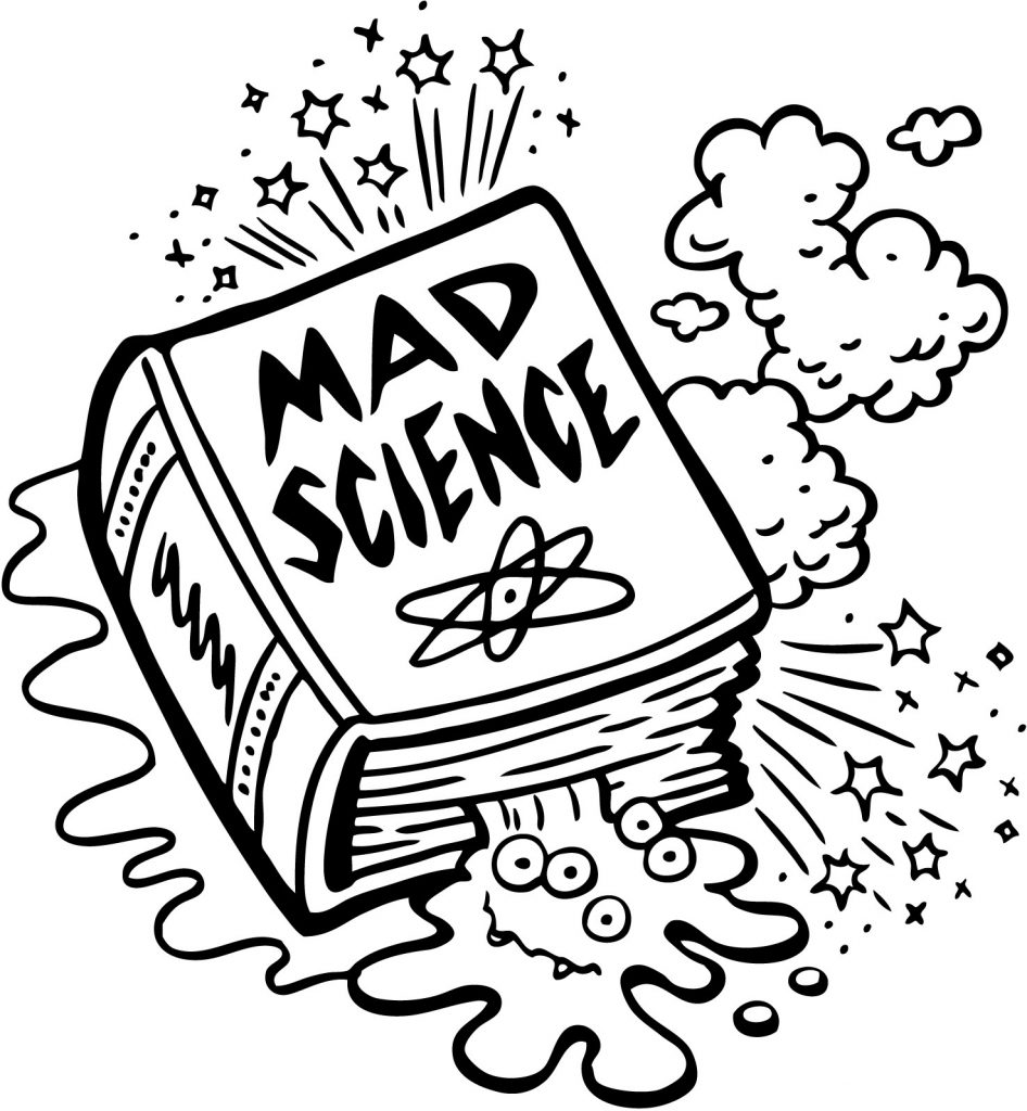 Mad Science Coloring Pages