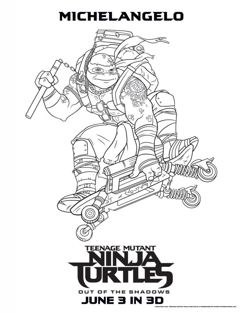 Michelangelo - Teenage Mutant Ninja Turtles Coloring Pages