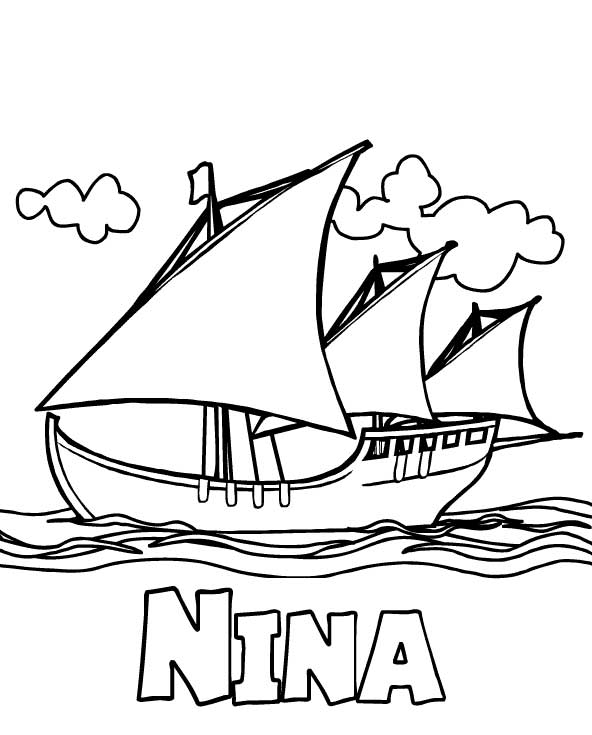 Columbus ships coloring pages ~ Columbus Day Coloring Pages - Best Coloring Pages For Kids