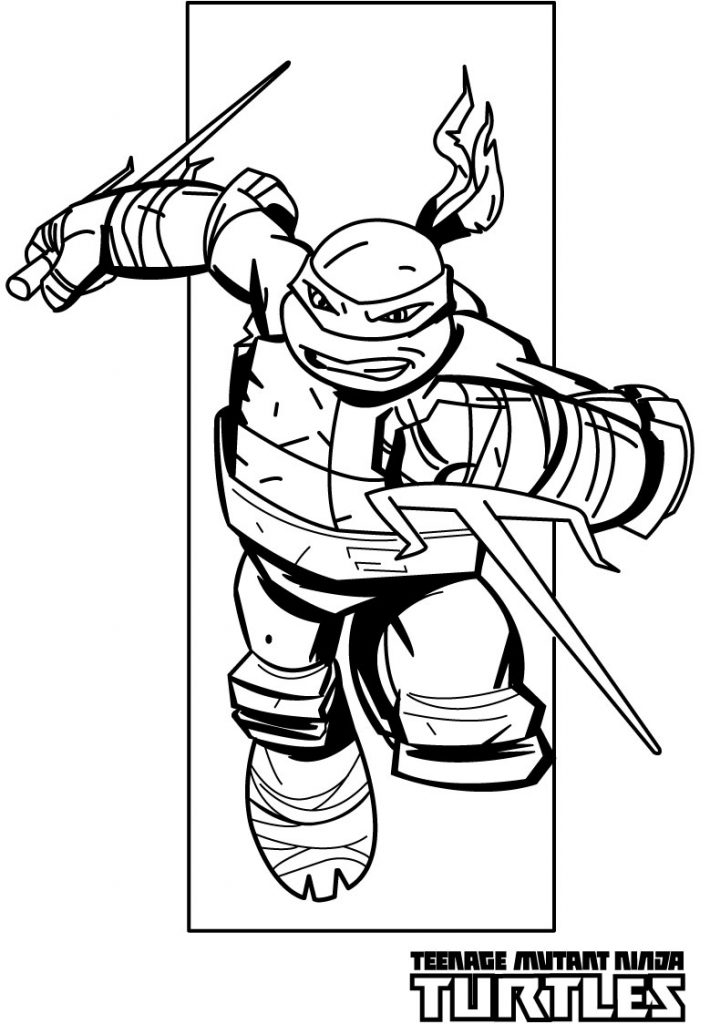 Ninja Sais - Teenage Mutant Ninja Turtles Coloring Pages