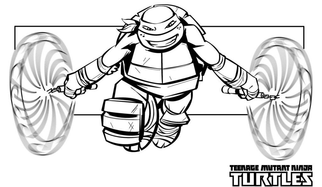 Nunchucks - Teenage Mutant Ninja Turtles Coloring Pages