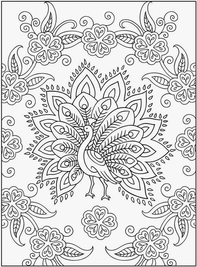 Peacock - Complex Coloring pages