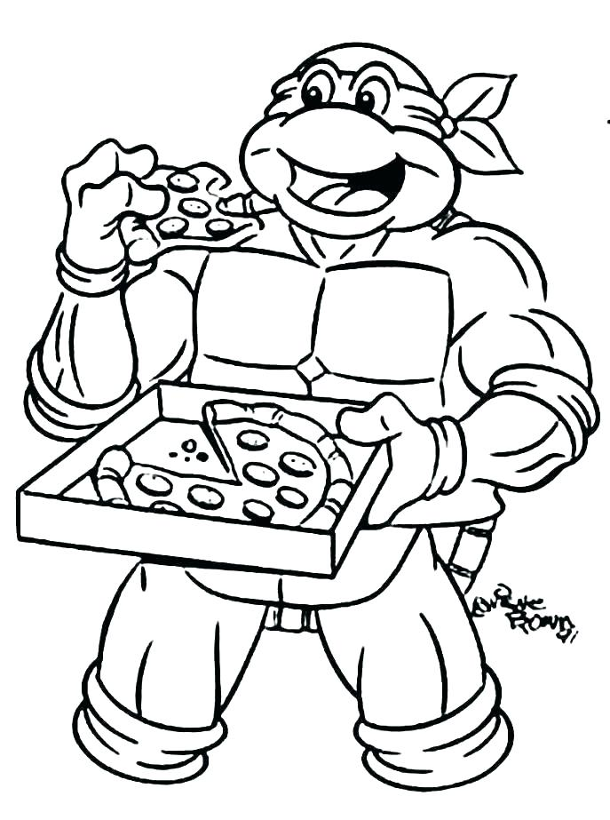 Pizza - Teenage Mutant Ninja Turtles Coloring Pages
