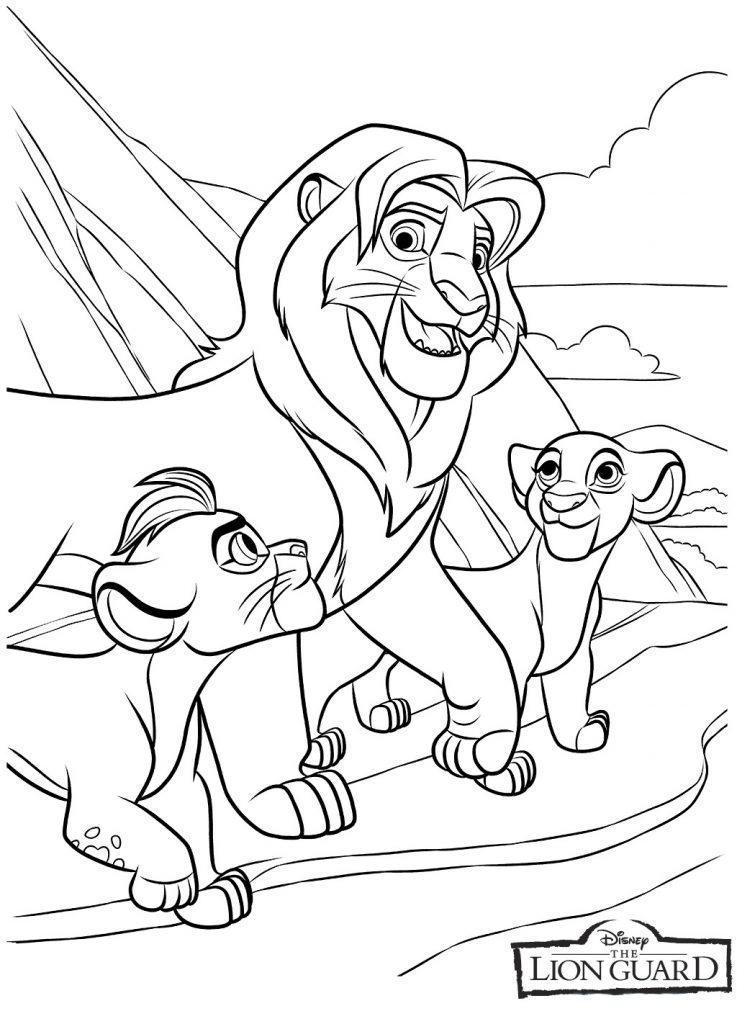 Print Lion Guard Coloring Page