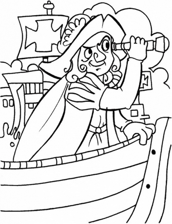 Printable Columbus Day Coloring Pages