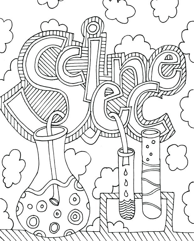 Printable Science Coloring Pages