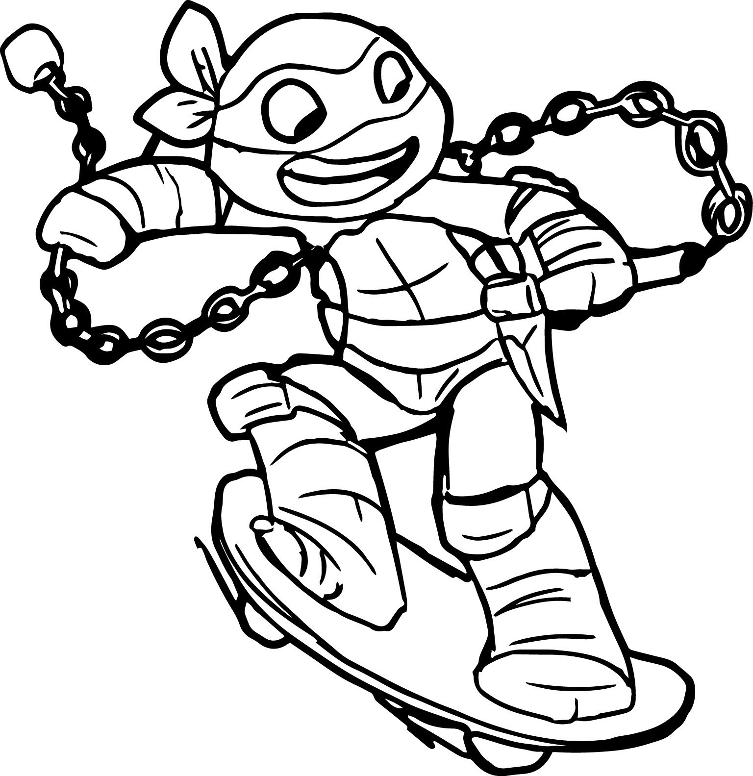 free ninja turtle coloring pages - photo#2