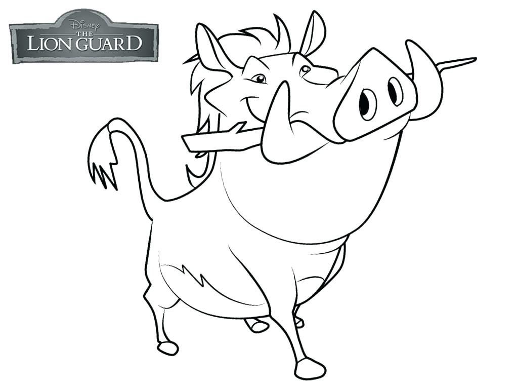 Pumba Lion Guard Coloring Pages
