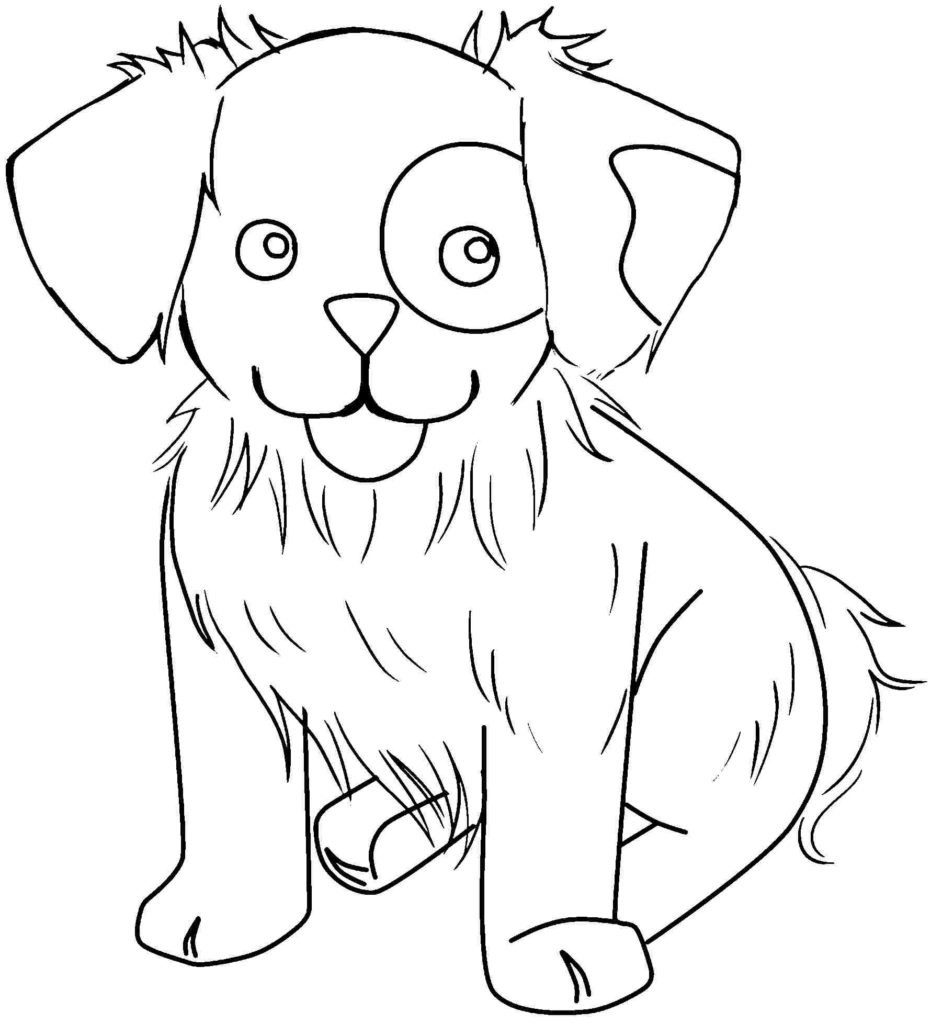 Puppy - Animal Coloring Pages