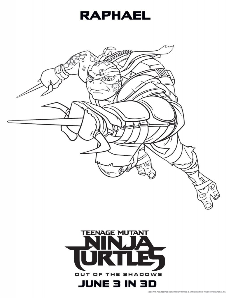 Raphael - Teenage Mutant Ninja Turtles Coloring Pages