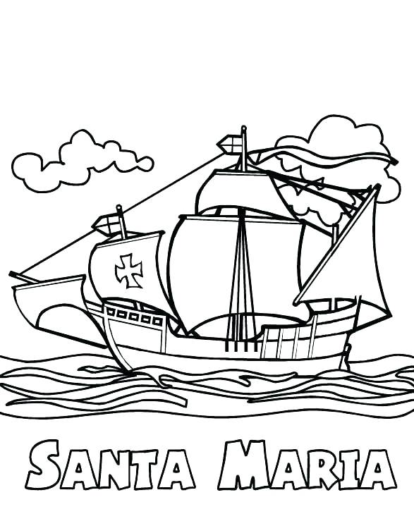 santa maria columbus day coloring pages