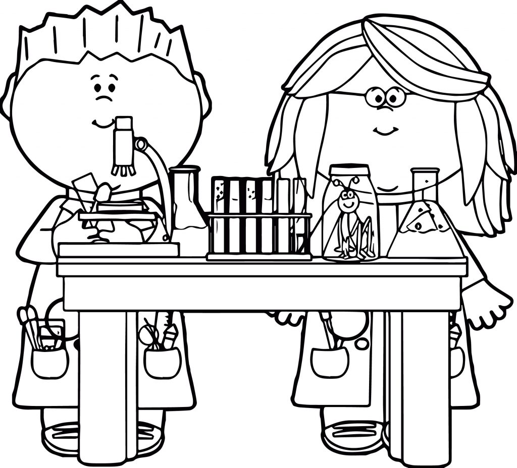 Science Coloring Pages for Kids