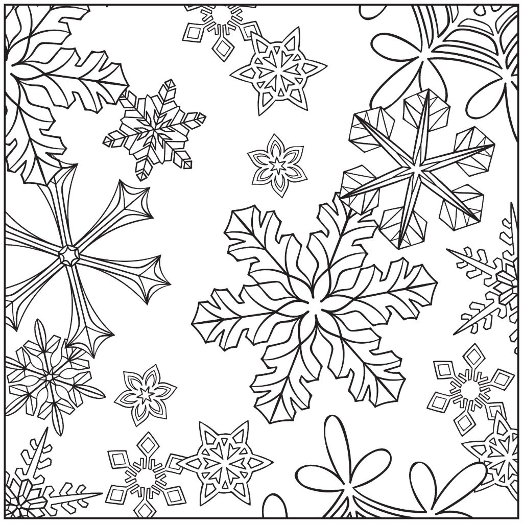 Snowflake Winter Coloring Pages for Adults