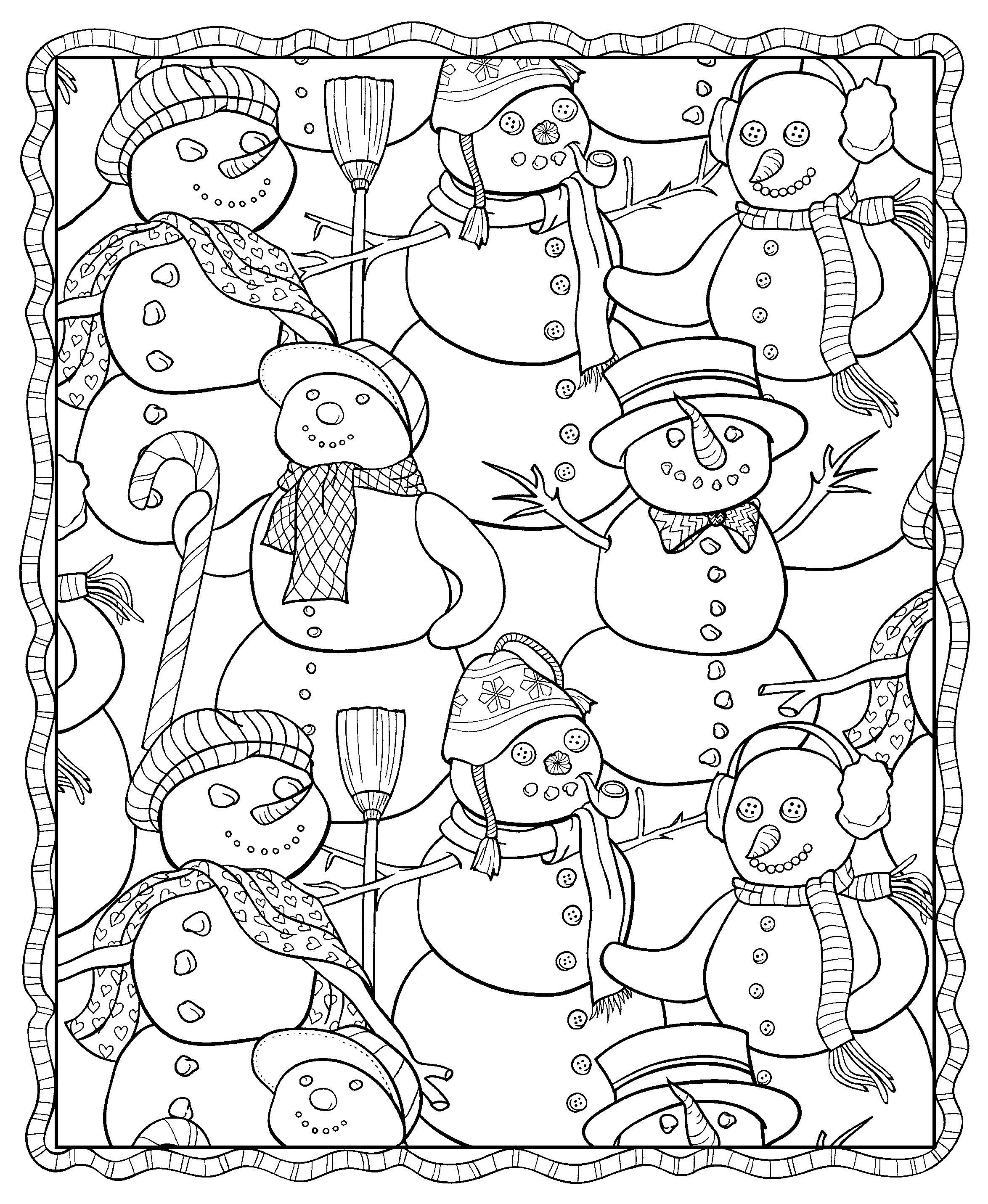- Winter Coloring Pages For Adults - Best Coloring Pages For Kids