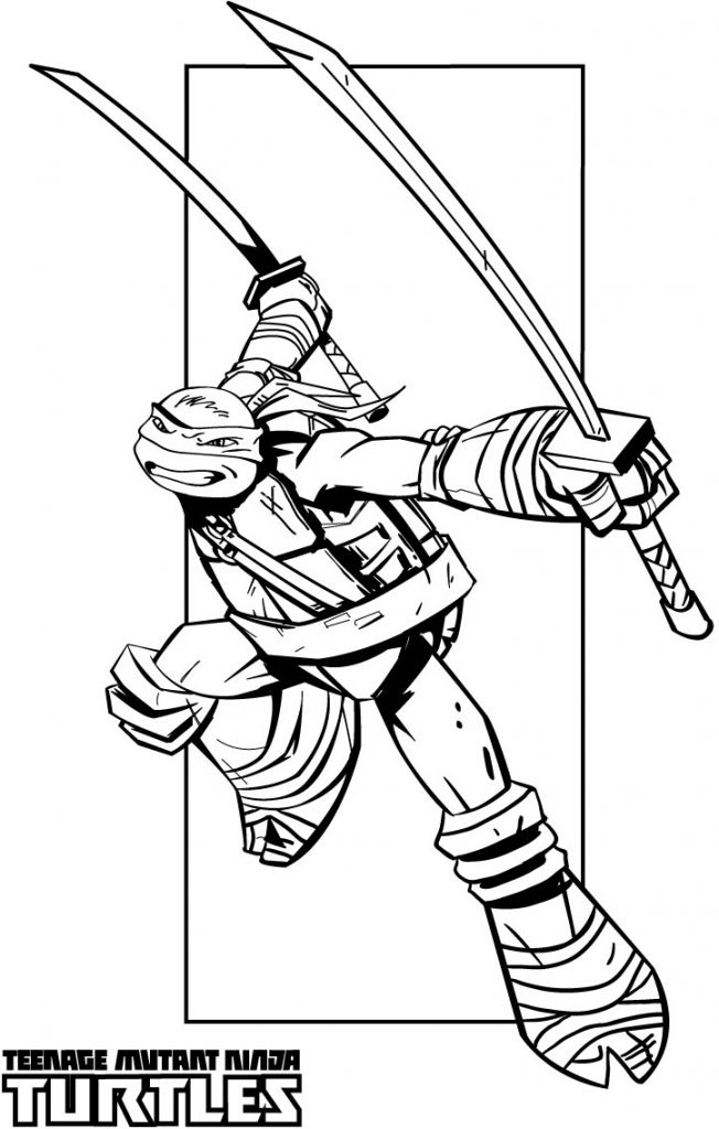 Swords - Teenage Mutant Ninja Turtles Coloring Pages