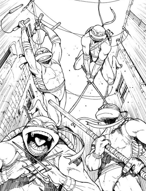 Teenage Mutant Ninja Turtles Coloring Pages - Best Coloring ...