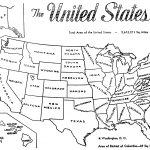 The United States Map Coloring Page