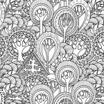 Trees - Complex Coloring Pages for Adults