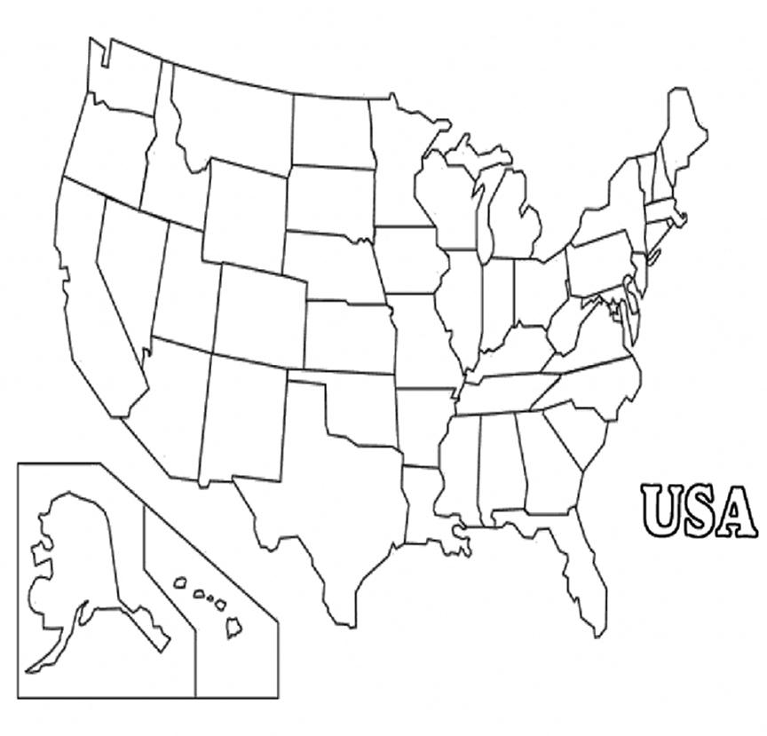 Us Map Blank Sheet