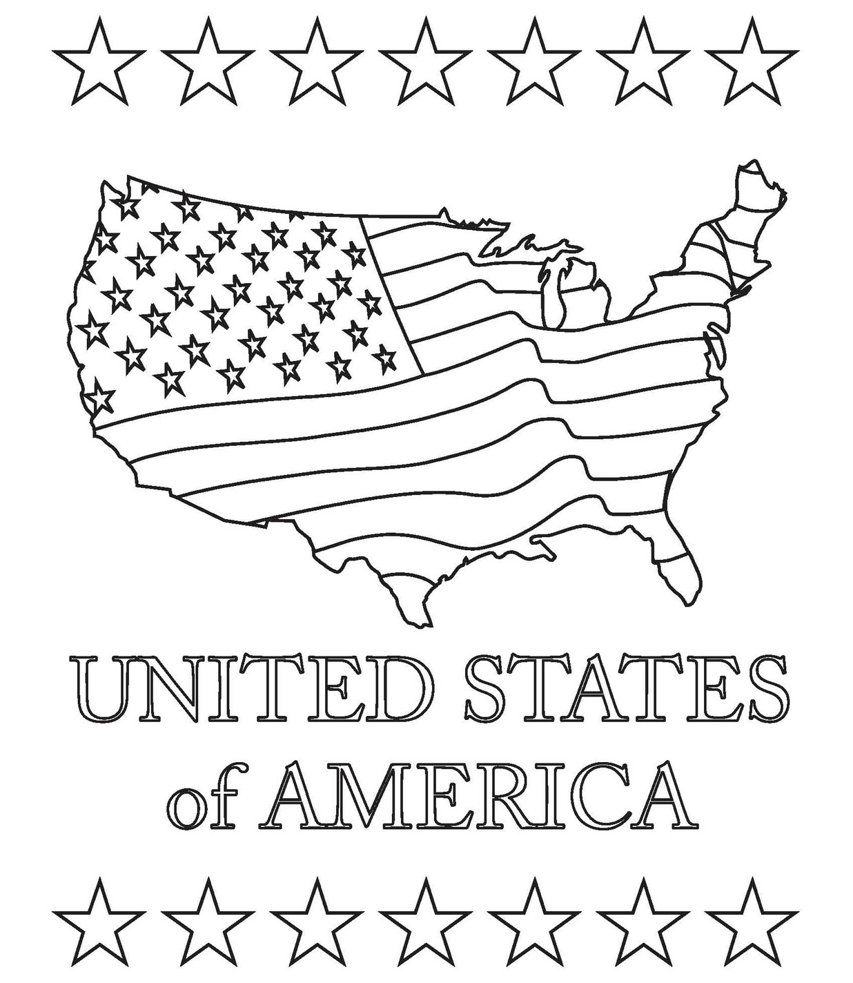 US Map Coloring Pages Best Coloring