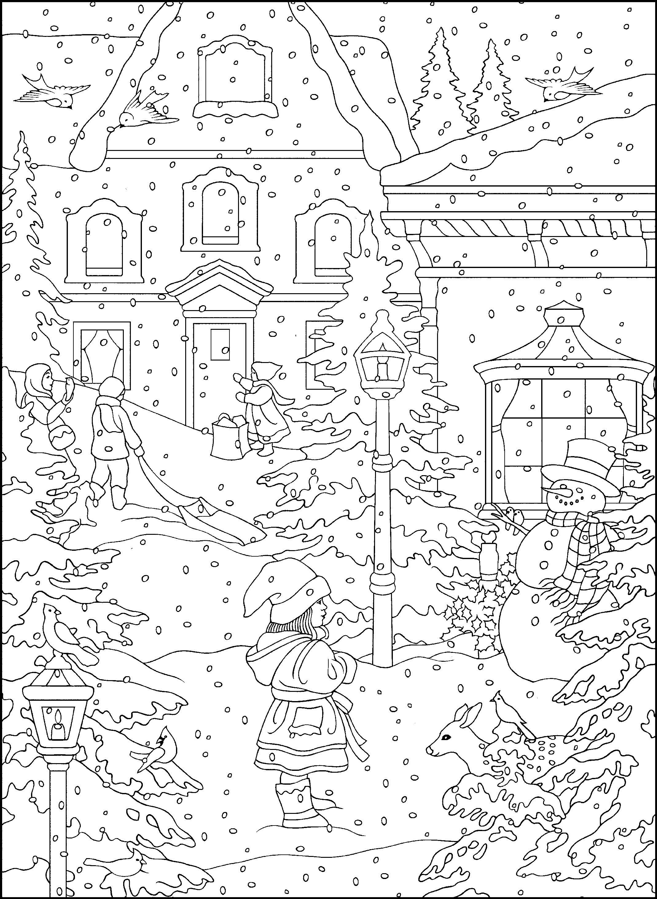 Winter Coloring Pages For Adults Best Coloring Pages For Kids