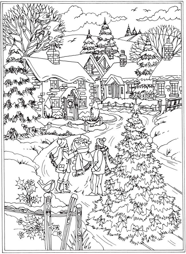 winter adult coloring pages Winter Coloring Pages for Adults   Best Coloring Pages For Kids winter adult coloring pages