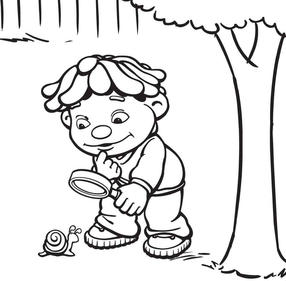 Young Scientist Coloring Page