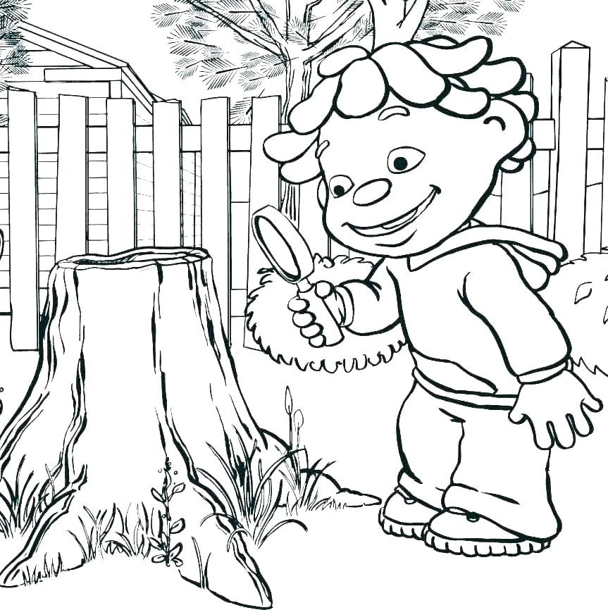 Young Scientist Coloring Pages