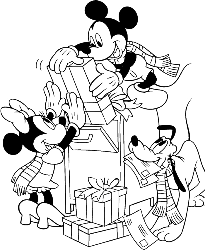 Disney Coloring Pages Mickey Mouse Christmas