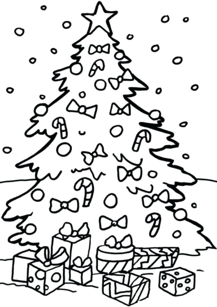 Christmas Tree - December Coloring Pages