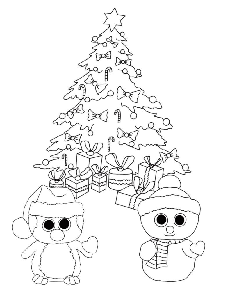 Christmas Coloring Pages Preschool