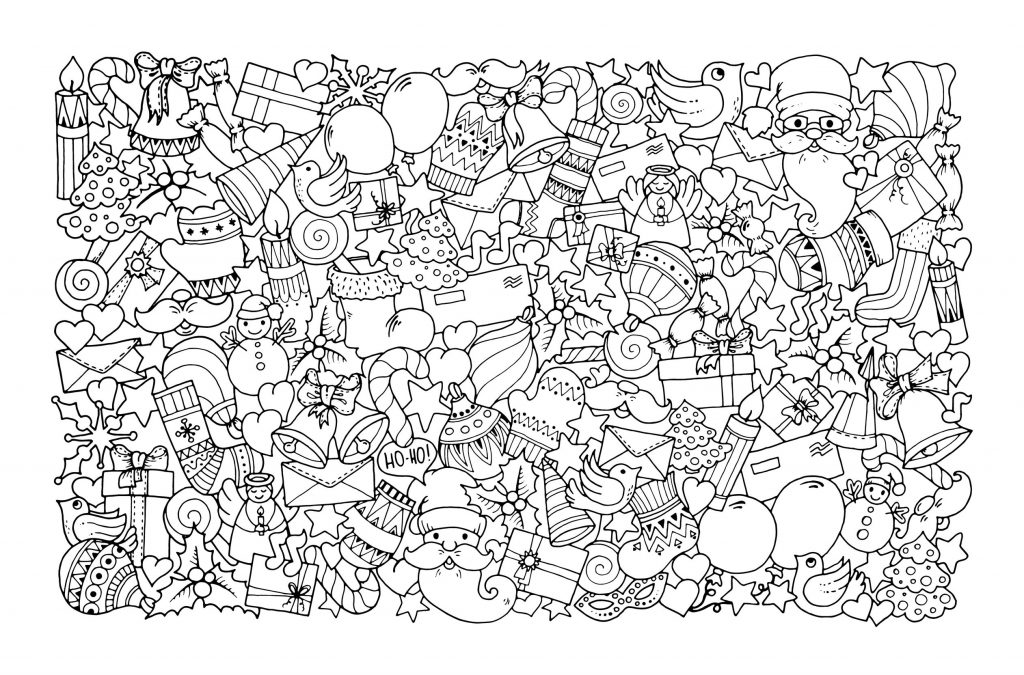 Christmas Design Coloring Page