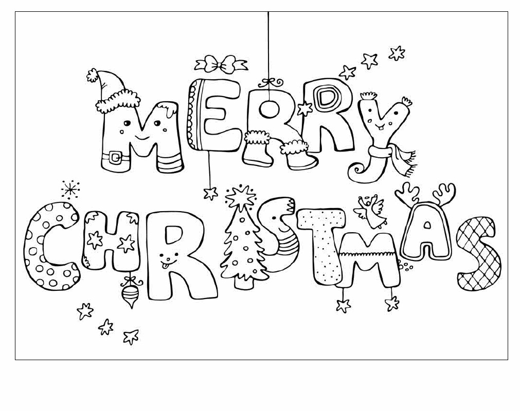 Christmas is in December Coloring Page
