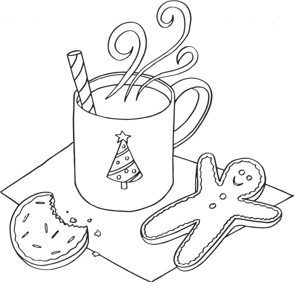 Cookies December Coloring Page