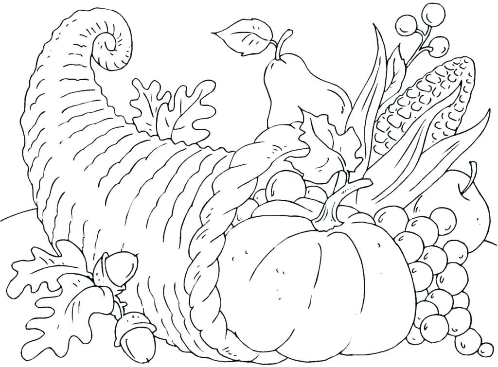 Cornucopia - November Coloring Pages