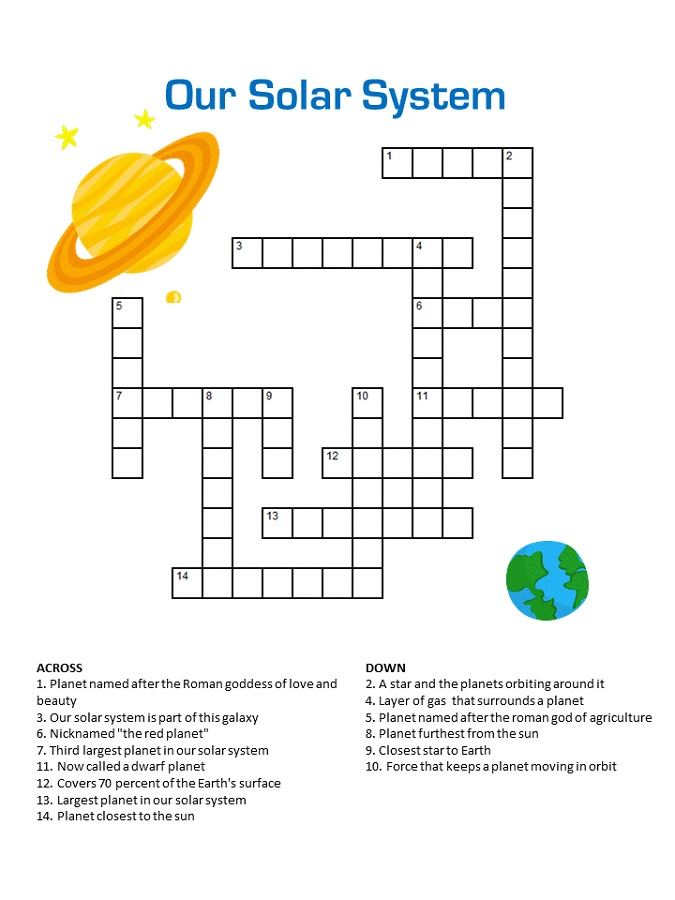 This is an image of Smart Printable Kids Crossword Puzzles