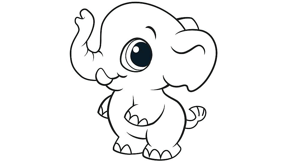 print cute animal coloring pages - photo#42