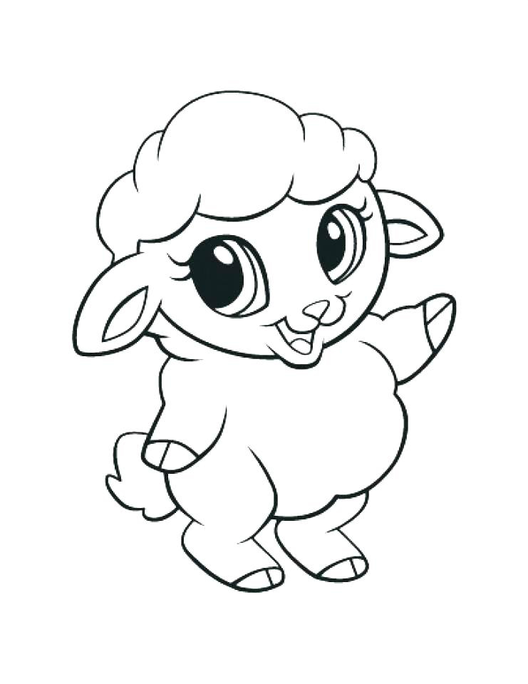 print cute animal coloring pages - photo#9