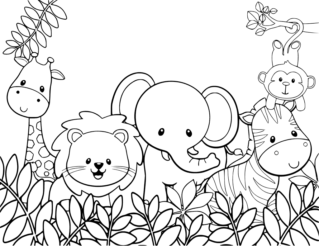 print cute animal coloring pages - photo#34