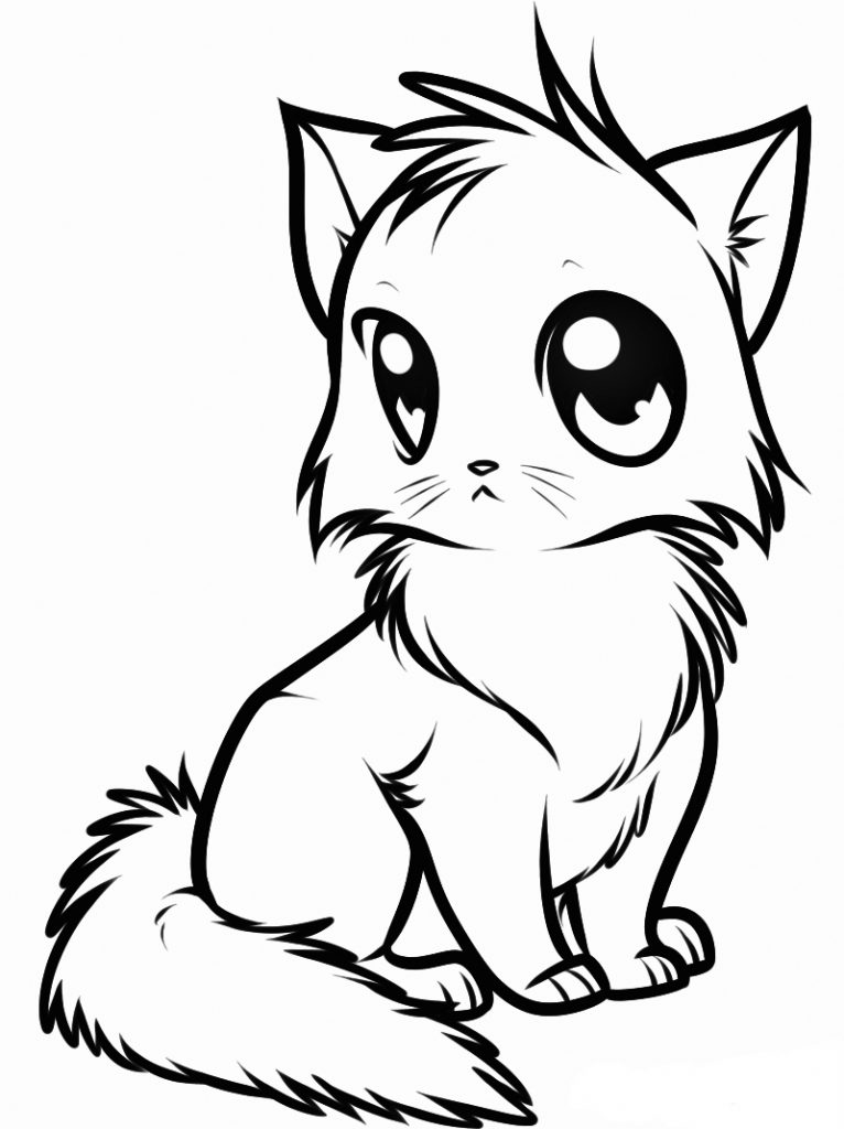cute kitty coloring pages - photo#10