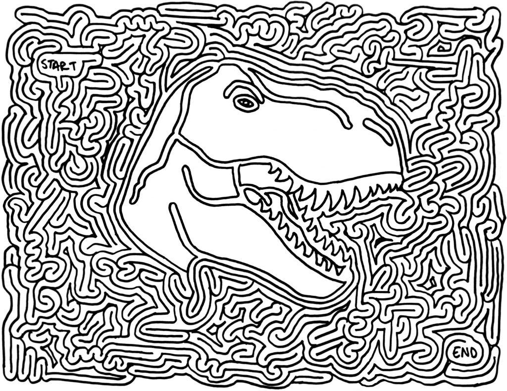 Dinosaur Maze Puzzle